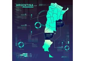 阿根廷平面设计霓虹灯地图信息图_10809522