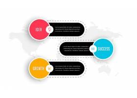 现代三步走商务专业信息图表模板_7550992
