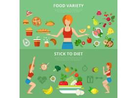 扁平纤细健康的生活方式网页信息图表_12320158