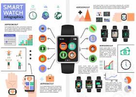平面智能手表信息图概念_11059230
