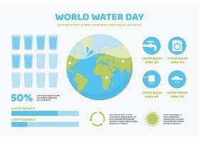 平面设计世界水日信息图表_12278678
