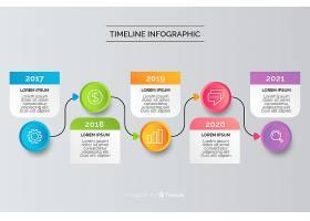 平面设计年度财务时间表信息图_5591195