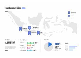 平面设计的印度尼西亚地图信息图_10291113