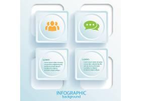 带有文本网页按钮和图标的商业信息图表设计_10760459