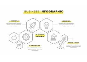 带有黄色元素的商业信息图_8851377