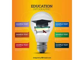 带着灯泡的教育信息图_925955
