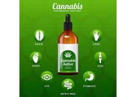 大麻油信息图有好处矢量插图_11635384