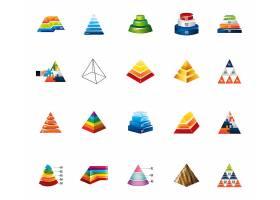 孤立金字塔信息图标集_5753993