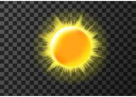 带射线的太阳盘_6538026