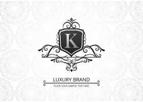 高级奢华创意字母k公司徽标_9121584