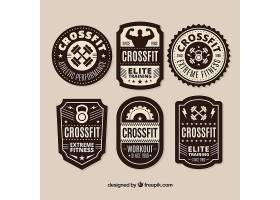 黑白CrossFit标签系列_1106721