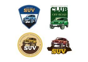 越野车矢量徽章标签和标志运输车辆运_11059306