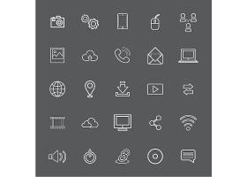 矢量插图UI技术图标概念_2631209