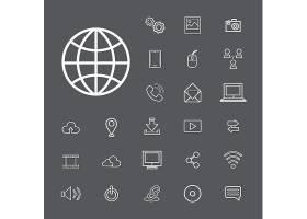 矢量连接数字技术UI概念_2631244