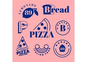 面包店和披萨的极简主义标识_6344460