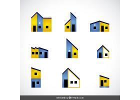 蓝黄相间的房地产标识收藏_807946