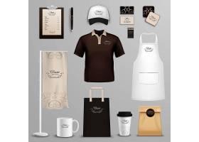 餐厅咖啡馆企业标识图标集_3886415