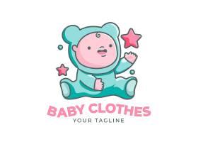 详细的婴儿徽标模板_11701461