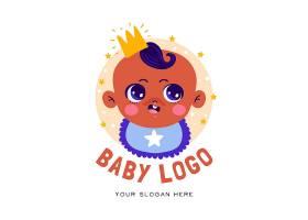 详细的婴儿徽标模板_11701465