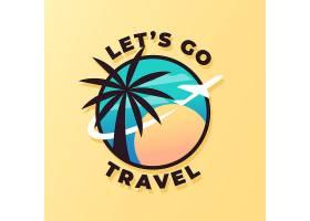 详细的旅游徽标模板_9363881
