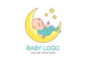 详细的月球婴儿标志_10633620