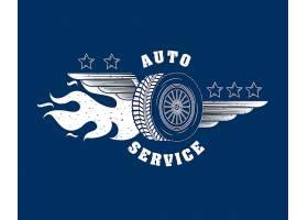 汽车维修服务徽标_5604906