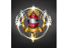汽车赛车运动的胜利标志_4758714