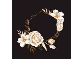 浪漫的花卉徽章_3772137