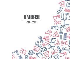 理发店的一组图标的组成_3330744
