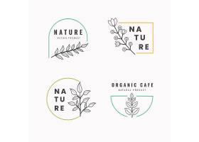 极简风格的自然商业徽标集模板_6189092
