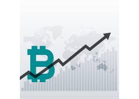 比特币向上增长图表设计背景_2393297
