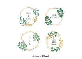 水彩画婚纱相框标识集_5325994