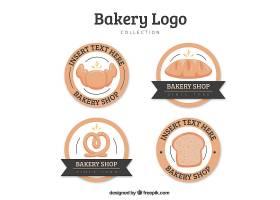 手绘风格的面包店标识集_1905657