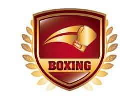 拳击盾牌标志平面设计_5404371