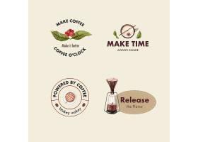 带有国际咖啡日概念设计的LOGO用于品牌推_10119734
