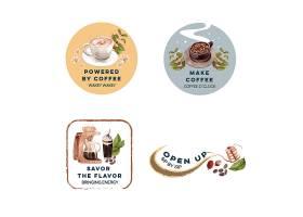 带有国际咖啡日概念设计的LOGO用于品牌推_10119737
