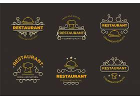复古餐厅徽标模板_7171591