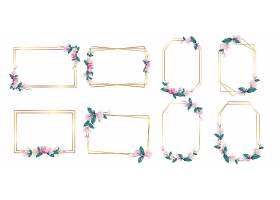 婚庆标志及品牌标志设计水彩花框_8846474