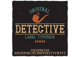名为侦探的复古字母和徽标字体_11407126
