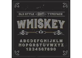 名为威士忌的复古标签字体适合任何标签设_11053765