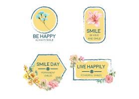 LOGO以花束设计为世界微笑日概念以品牌推_10219931