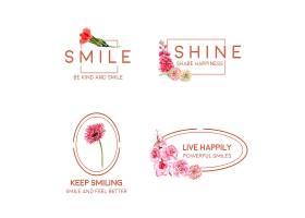 LOGO以花束设计为世界微笑日概念以品牌推_10219941
