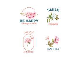 LOGO以花束设计为世界微笑日概念以品牌推_10219947