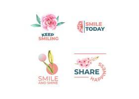 LOGO以花束设计为世界微笑日概念以品牌推_10219950