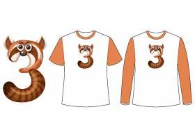 一套两种款式的衬衣T恤上印有三号形的浣_12364976