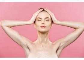 美容概念美丽的女人干净清新的皮肤靠_1288370