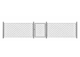 具有小门真实感矢量的链条围栏_4997225