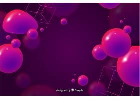 具有3D流体形状的抽象背景_5199678