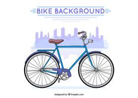 具有经典风格的自行车背景_1283776