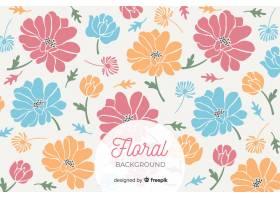 以可爱的花瓣为背景的彩色大花_5367521